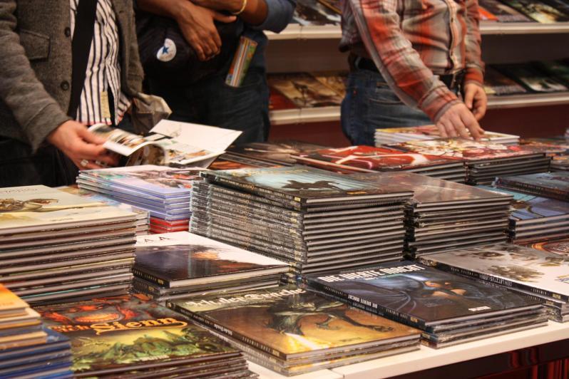 Messestand Splitter Verlag Comics