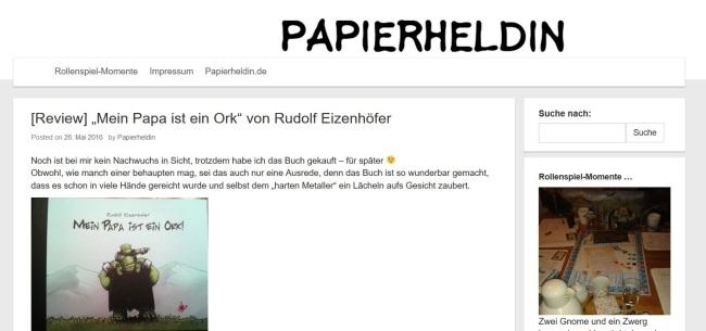 Papierheldin - Literatur und Rollenspielblog